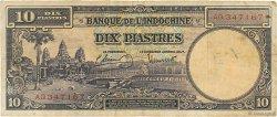 10 Piastres INDOCHINE FRANÇAISE  1947 P.080