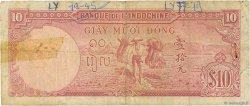 10 Piastres INDOCHINE FRANÇAISE  1947 P.080 TB