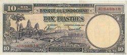 10 Piastres INDOCHINE FRANÇAISE  1947 P.080 TTB