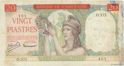 20 Piastres INDOCHINE FRANÇAISE  1949 P.081a TB