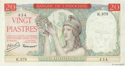 20 Piastres INDOCHINE FRANÇAISE  1949 P.081a TTB
