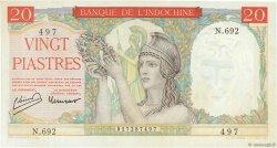 20 Piastres INDOCHINE FRANÇAISE  1949 P.081a SPL