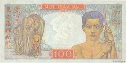 100 Piastres INDOCHINE FRANÇAISE  1947 P.082b TTB+