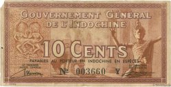 10 Cents INDOCHINE FRANÇAISE  1939 P.085b TB
