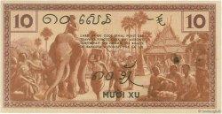 10 Cents INDOCHINE FRANÇAISE  1939 P.085b SUP