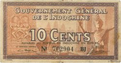 10 Cents INDOCHINE FRANÇAISE  1939 P.085c TB+