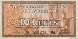 10 Cents INDOCHINE FRANÇAISE  1939 P.085c NEUF