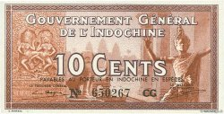 10 Cents INDOCHINE FRANÇAISE  1939 P.085d SPL