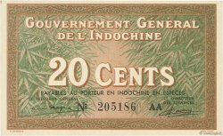 20 Cents INDOCHINE FRANÇAISE  1939 P.086c SPL
