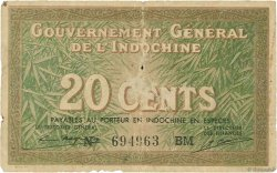 20 Cents INDOCHINE FRANÇAISE  1939 P.086d B