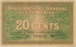 20 Cents INDOCHINE FRANÇAISE  1939 P.086d TTB