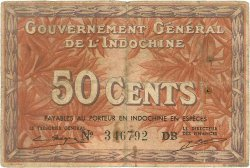 50 Cents INDOCHINE FRANÇAISE  1939 P.087e TB