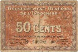 50 Cents INDOCHINE FRANÇAISE  1939 P.087e TB