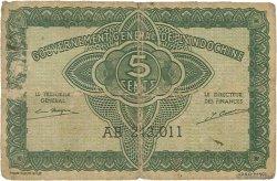 5 Cents INDOCHINE FRANÇAISE  1942 P.088b B