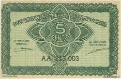 5 Cents INDOCHINE FRANÇAISE  1942 P.088b SPL