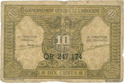 10 Cents INDOCHINE FRANÇAISE  1942 P.089a B