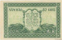 50 Cents INDOCHINE FRANÇAISE  1942 P.091a SPL