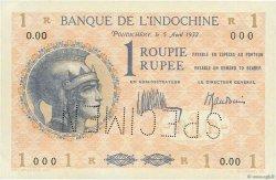 1 Roupie - 1 Rupee INDE FRANÇAISE  1932 P.004cs SUP+