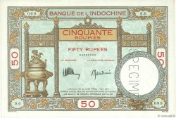 50 Roupies - 50 Rupees INDE FRANÇAISE  1936 P.007s pr.NEUF