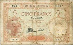 5 Francs NOUVELLE CALÉDONIE  1936 P.36b B