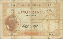 5 Francs NOUVELLE CALÉDONIE  1936 P.36b B+