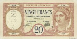20 Francs NOUVELLE CALÉDONIE  1926 P.37as SUP+
