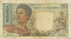 20 Francs NOUVELLE CALÉDONIE  1954 P.50c TB