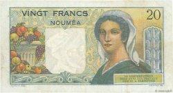 20 Francs NOUVELLE CALÉDONIE  1954 P.50c TTB