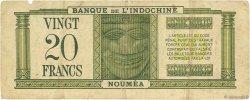 20 Francs NOUVELLE CALÉDONIE  1944 P.49 TB+
