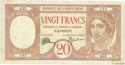 20 Francs TAHITI  1928 P.12b TTB