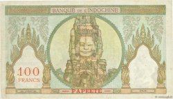 100 Francs TAHITI  1956 P.14c TB