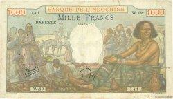 1000 Francs TAHITI  1956 P.15b TB