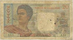 20 Francs TAHITI  1954 P.21b B