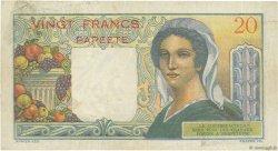 20 Francs TAHITI  1963 P.21c TB à TTB