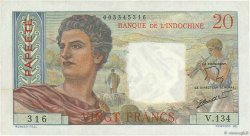 20 Francs TAHITI  1963 P.21c pr.SUP