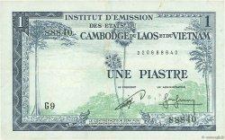 1 Piastre - 1 Riel INDOCHINE FRANÇAISE  1954 P.094 TTB+