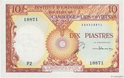 10 Piastres - 10 Riels INDOCHINE FRANÇAISE  1953 P.096a pr.NEUF