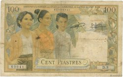 100 Piastres - 100 Riels INDOCHINE FRANÇAISE  1954 P.097 pr.B