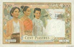 100 Piastres - 100 Riels INDOCHINE FRANÇAISE  1954 P.097 TTB+