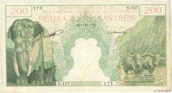 200 Piastres - 200 Riels INDOCHINE FRANÇAISE  1953 P.098 TB