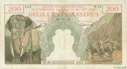 200 Piastres - 200 Riels INDOCHINE FRANÇAISE  1953 P.098 TB+