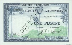 1 Piastre - 1 Kip INDOCHINE FRANÇAISE  1954 P.100s NEUF