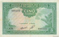 5 Piastres - 5 Kip INDOCHINE FRANÇAISE  1953 P.101 TTB