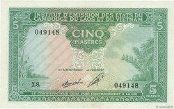 5 Piastres - 5 Kip INDOCHINE FRANÇAISE  1953 P.101 TTB+