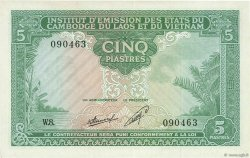 5 Piastres - 5 Kip INDOCHINE FRANÇAISE  1953 P.101 SUP+