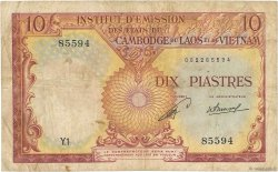 10 Piastres - 10 Kip INDOCHINE FRANÇAISE  1953 P.102 B