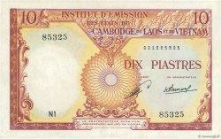 10 Piastres - 10 Kip INDOCHINE FRANÇAISE  1953 P.102 TTB