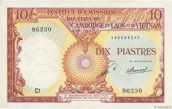 10 Piastres - 10 Kip INDOCHINE FRANÇAISE  1953 P.102 SUP