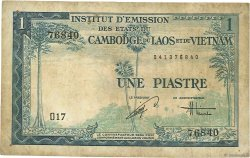 1 Piastre - 1 Dong INDOCHINE FRANÇAISE  1954 P.105 B