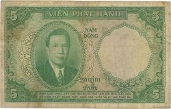 5 Piastres - 5 Dong INDOCHINE FRANÇAISE  1953 P.106 B
